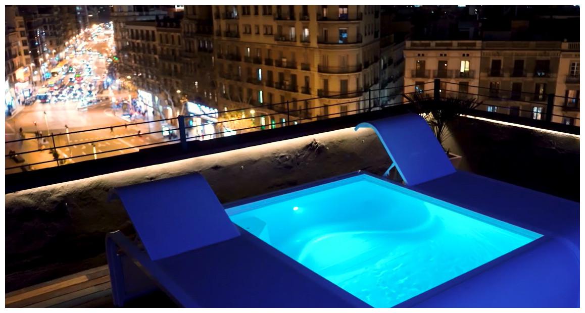éclairage de la piscine urbaine gre mariposa