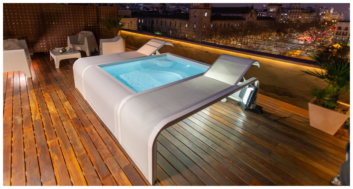 piscine Mariposa en situation terrasse