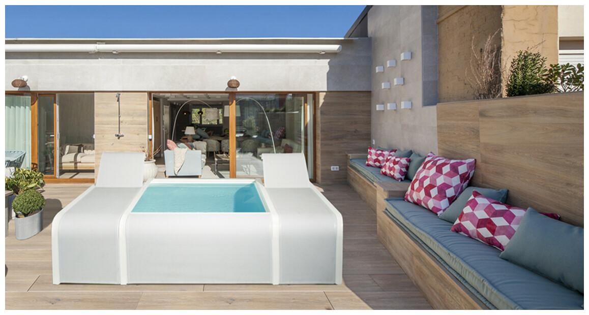 piscine gre mariposa sur une terrasse