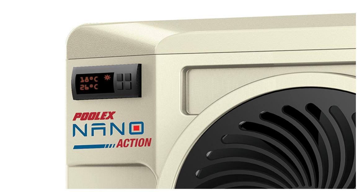 zoom sur la pompe à chaleur nano action poolex