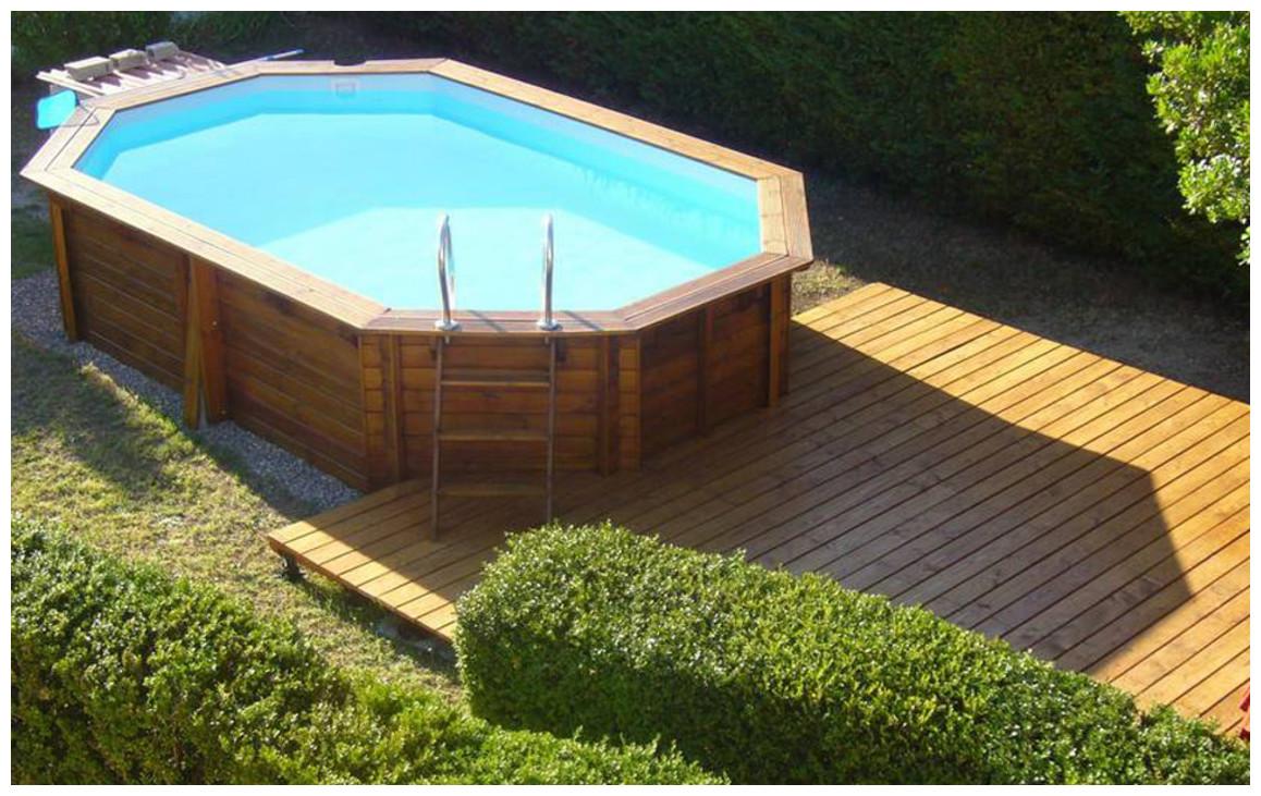 kit piscine bois woodfirst original octogonale allongé