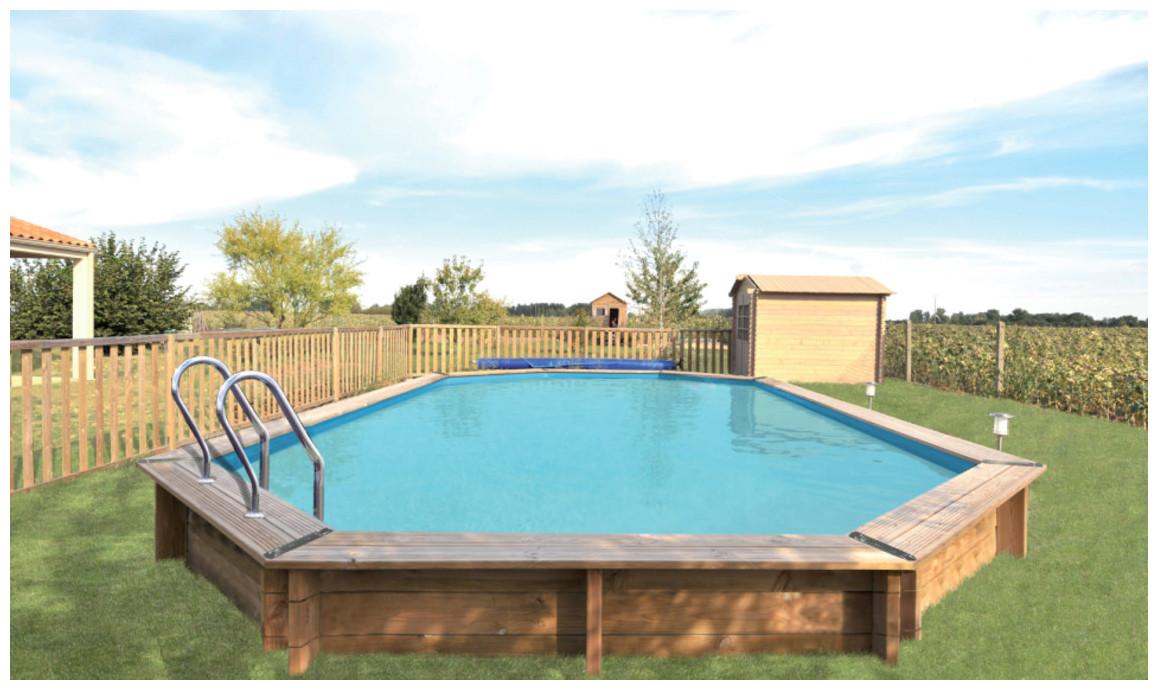 piscine octogonale allongée woodfirst original