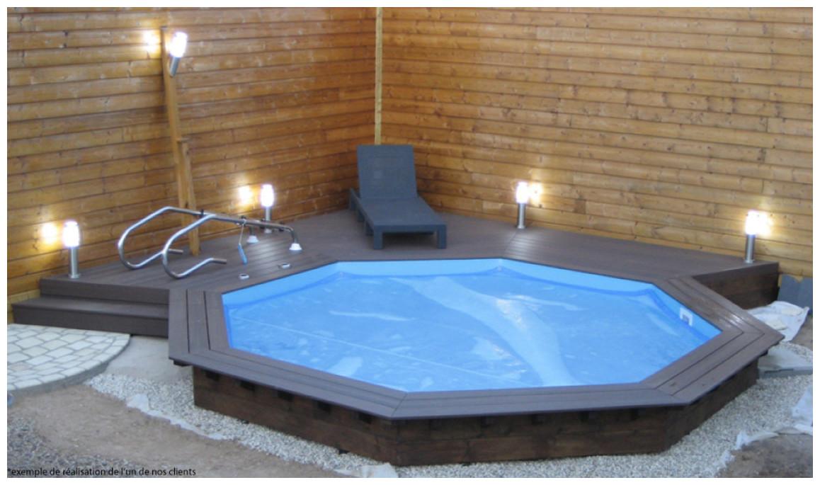 piscine bois woodfirst original octogonal en enterrée