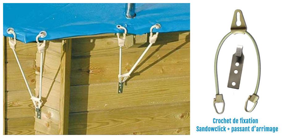 fixation de la bâche opaque akita safe pour piscine hors sol