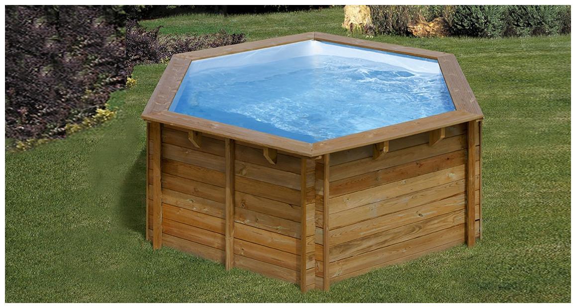 piscine bois ronde sunbay lili en situatiobn