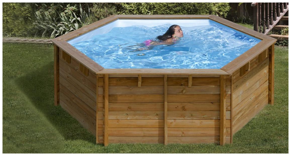 détails de la piscine bois hors sol sunbay lili