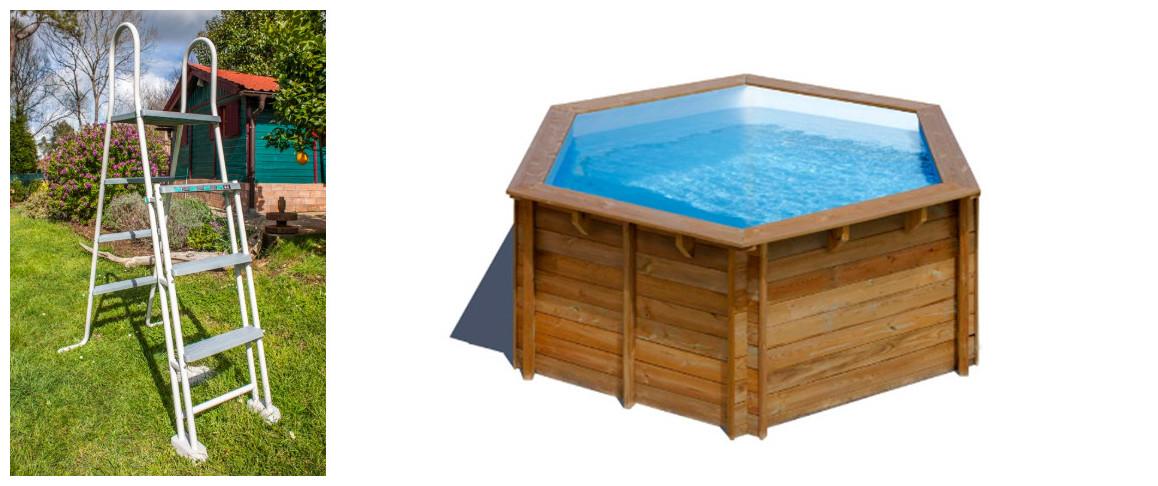 échelle d'accès de la piscine bois sunbay lili ronde