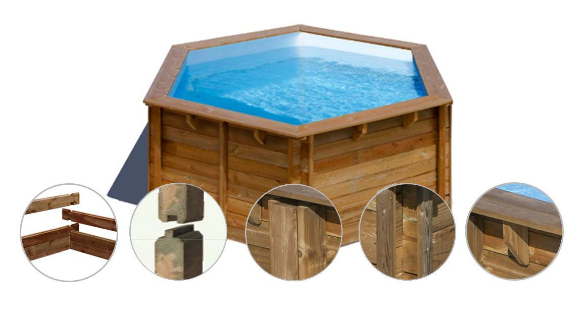 structure de la piscine bois ronde sunbay lili
