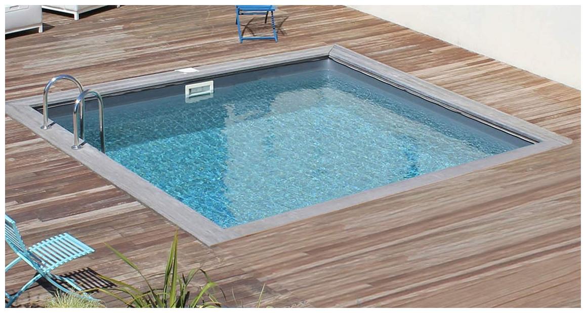 kit piscine bois carrée city sunbay
