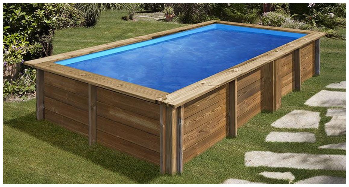 détail du kit piscine bois sunbay lemon