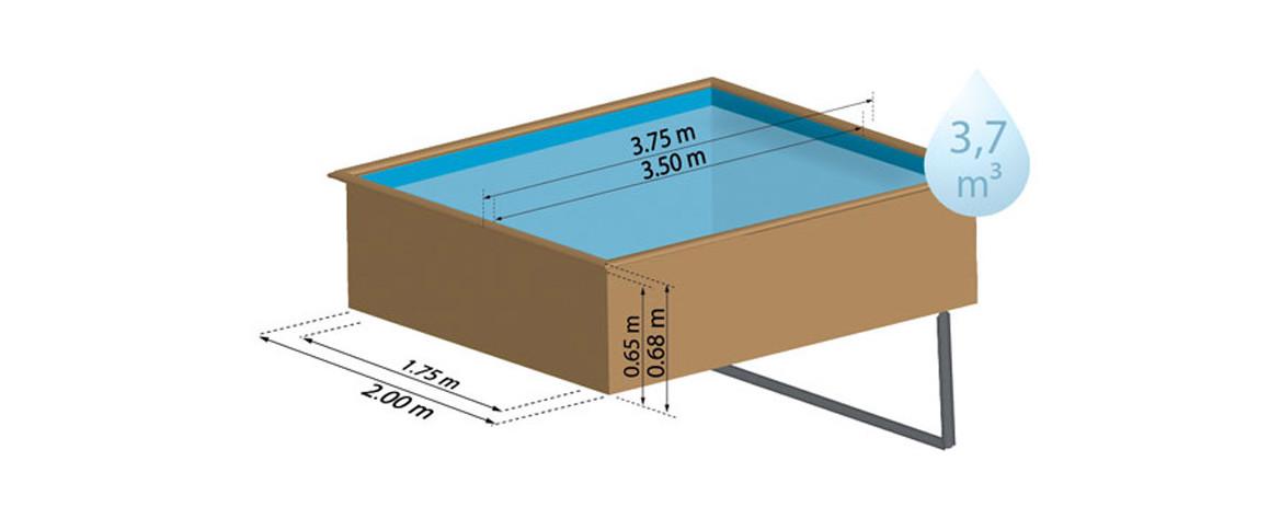 dimensions de la piscine bois sunbay lemon