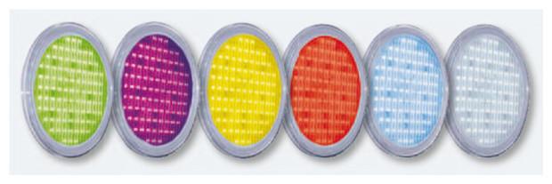 eclairage piscine 3 lampes led rgb par56 avec