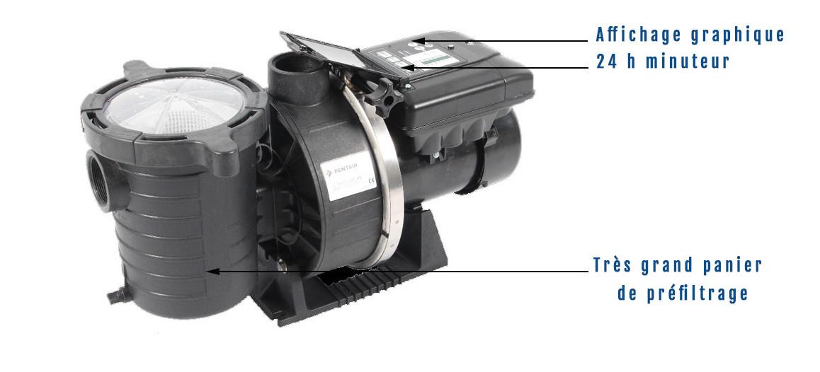 descriptif de la pompe de filtration ultra flow