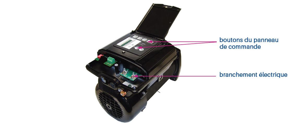 panneau de commande de la pompe de filtration à vitesse variable ultra flow