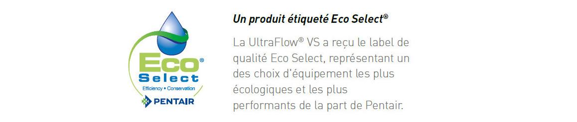 label de la pompe de filtration Ultra-Flow VS à vitesse variable
