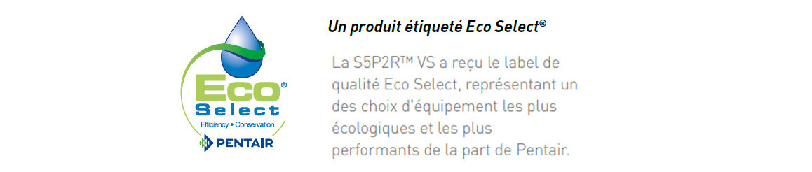 label de la pompe de filtration S5P2R à vitesse variable