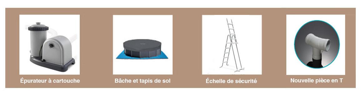 accessoires et équipements de la piscine tubulaire intex baltik