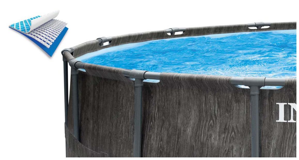 zoom sur la piscine hors sol tubulaire intex baltik