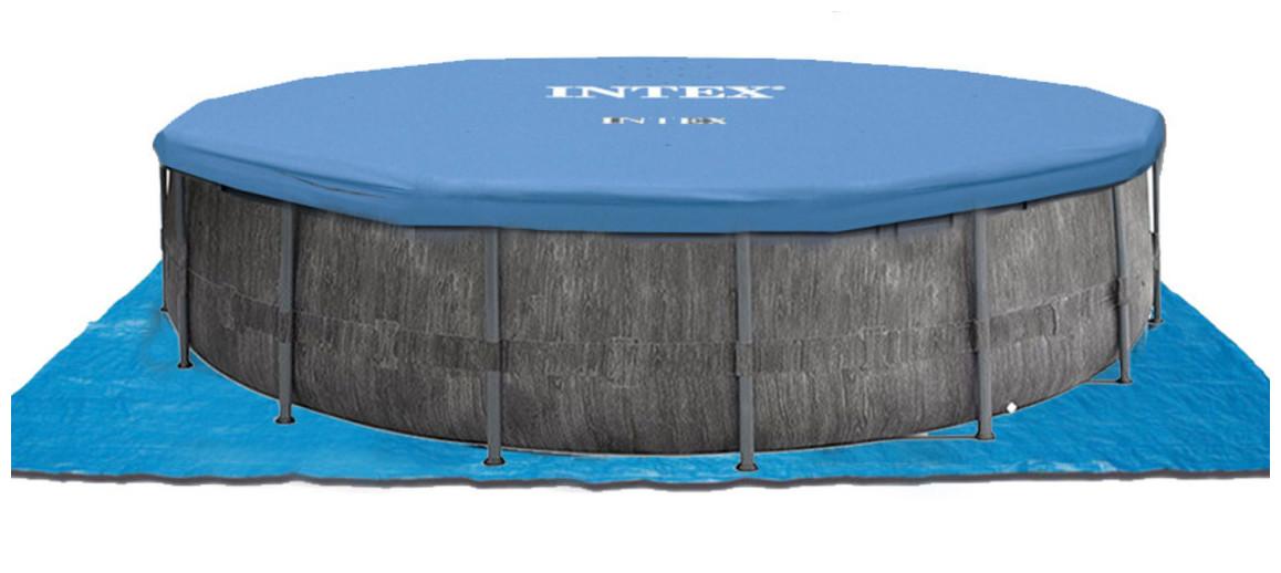 tapis et bâche de protection pour piscine tubulaire intex baltik