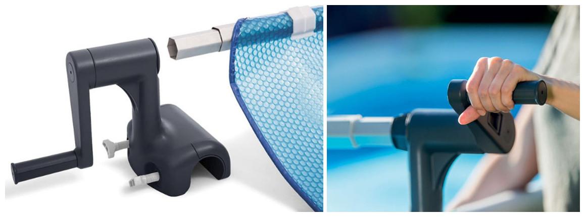 enrouleur de bâches à bulles pour piscines tubulaires intex