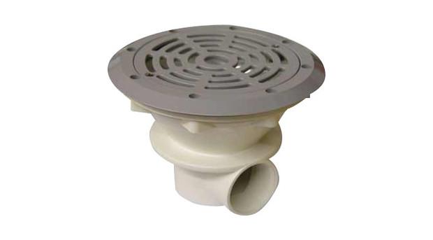 Filtration piscine bonde de fond grise pour b ton liner for Liner gris pour piscine