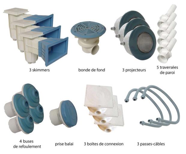 Kit pièces à sceller bleues piscines liner - N°3
