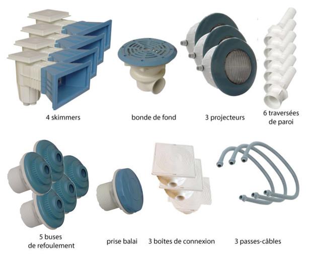 Kit pièces à sceller bleues piscines liner - N°4