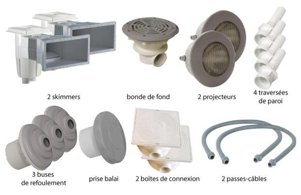 Kit pièces à sceller gris piscines liner - N°2