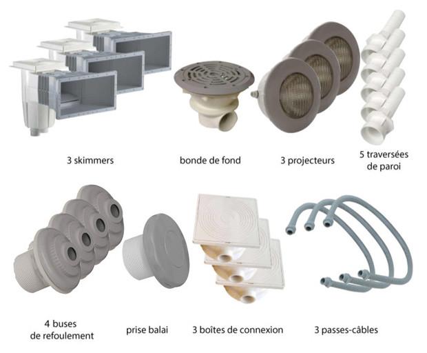 Kit pièces à sceller gris piscines liner - N°3