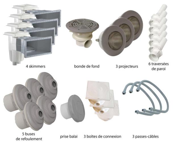 Kit pièces à sceller gris piscines liner - N°4