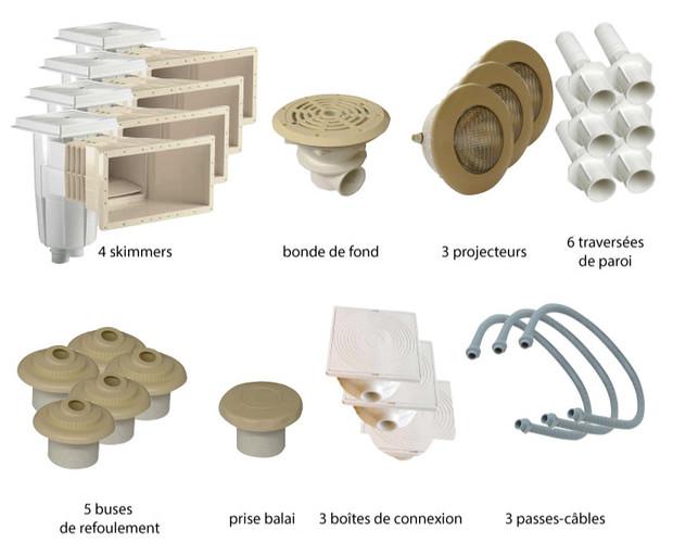 Pack n 4 piscine b ton pieces de construction sable 13 6 for Pieces a sceller piscine beton