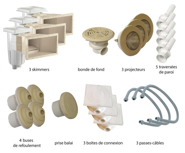 Kit pièces à sceller sable piscines liner - N°3