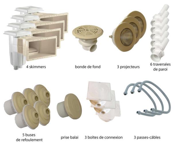 Kit pièces à sceller sable piscines liner - N°4