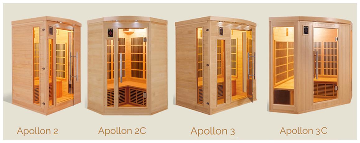 modèles de sauna infrarouge apollon par France Sauna