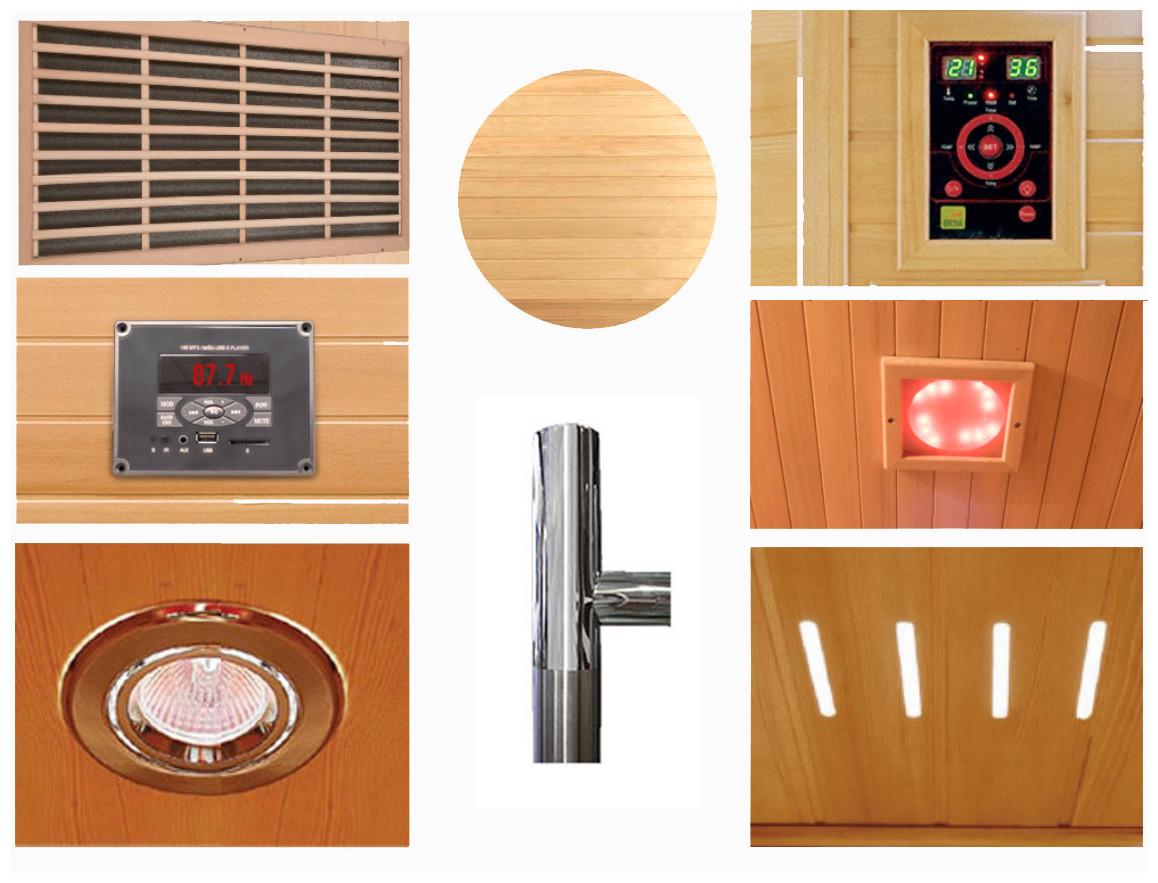 équipement du sauna infrarouge apollon
