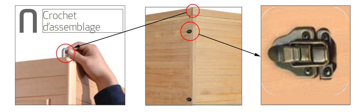 assemblage du sauna apollon par france sauna