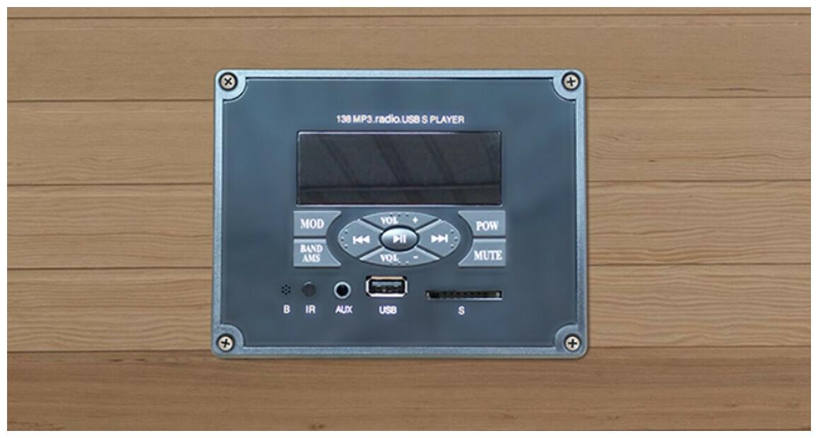 appareils audio du sauna infrarouge apollon france sauna
