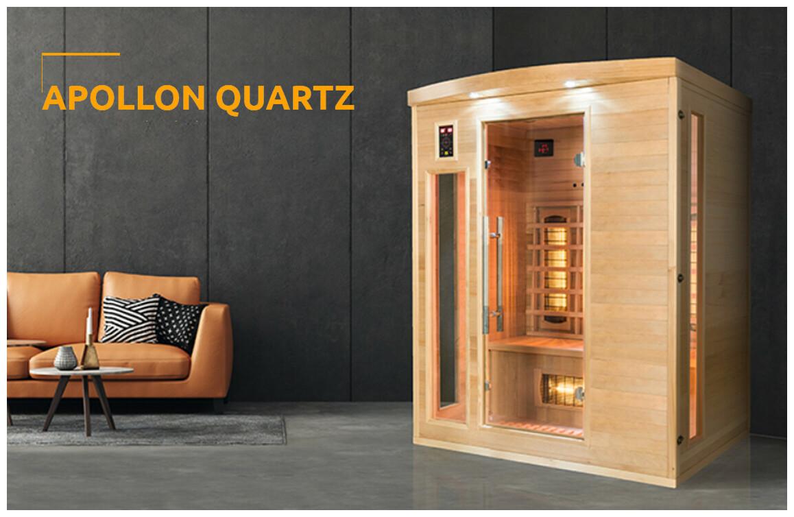 sauna infrarouge Apollon Quartz ensituation