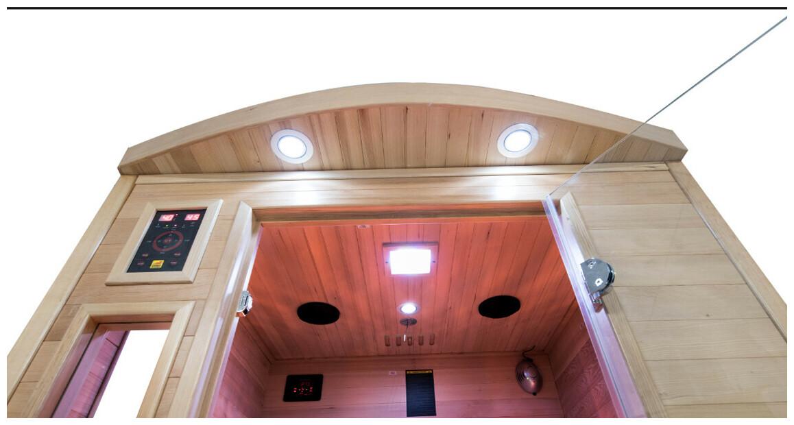 zoom sur le sauna infrarouge apollon quartz