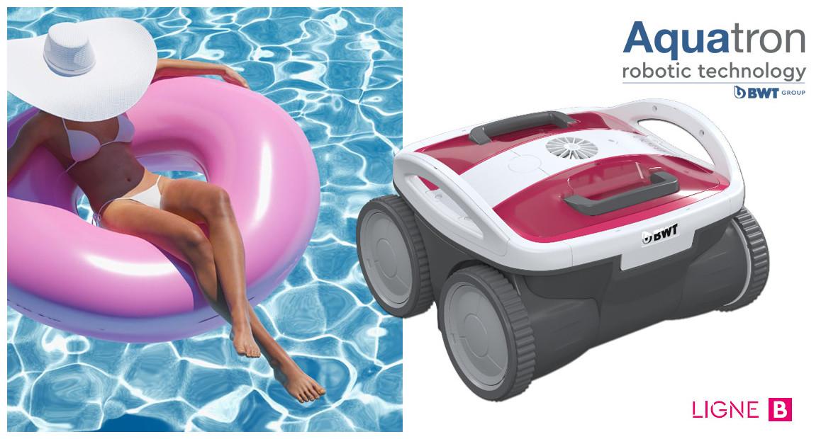 robot nettoyeur de piscine bwt aquatron B100 en situation
