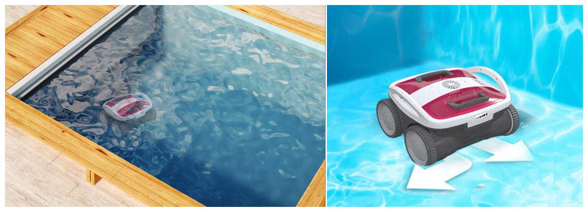 déplacements du robot piscine aqutron bwt b100
