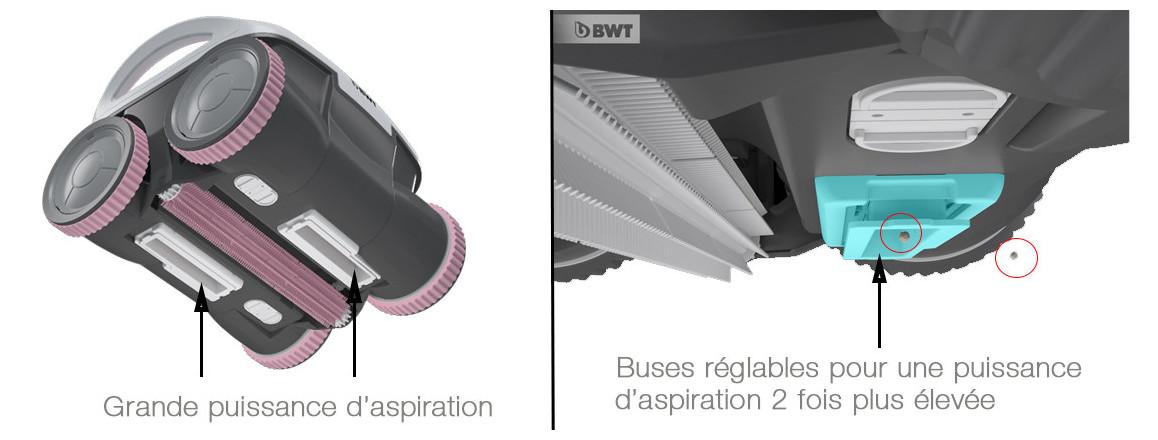 grande puissance d'aspiration pour robot piscine b100 bwt aquatron