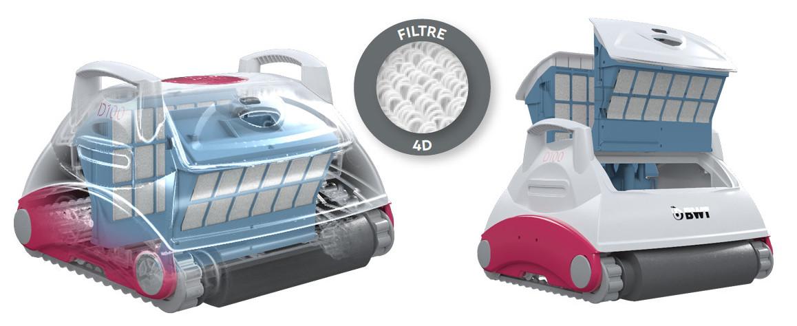 filtration du robot piscine bwt D100
