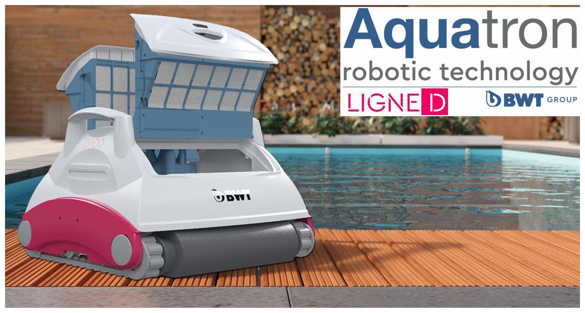 robot piscine D100 BWT aquatron en situation