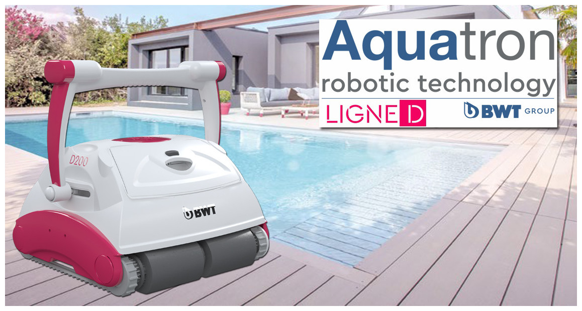 robot piscine D200 BWT aquatron en situation