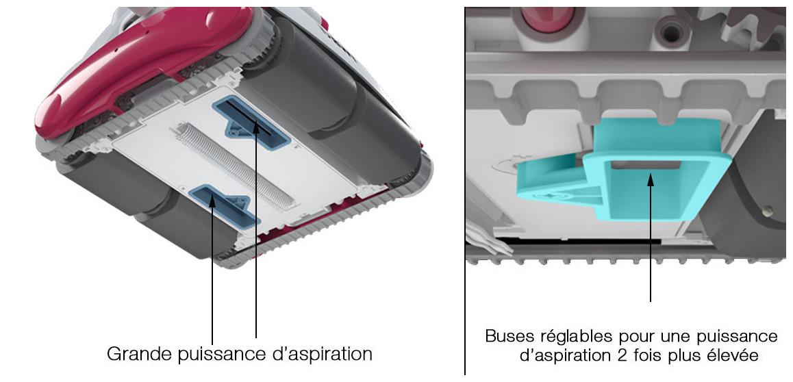 Buses réglable pour robot piscine D300 bwt