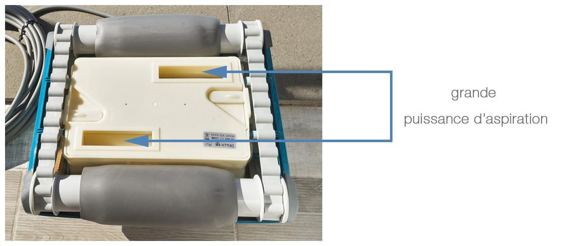 puissance d'aspiration du robot FRC50 BWT