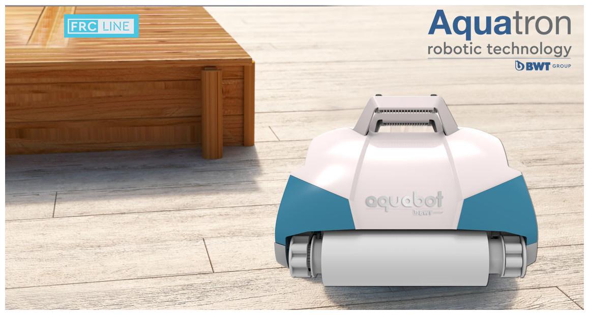 robot nettoyeur de piscine frc70 bwt aquatron en situation