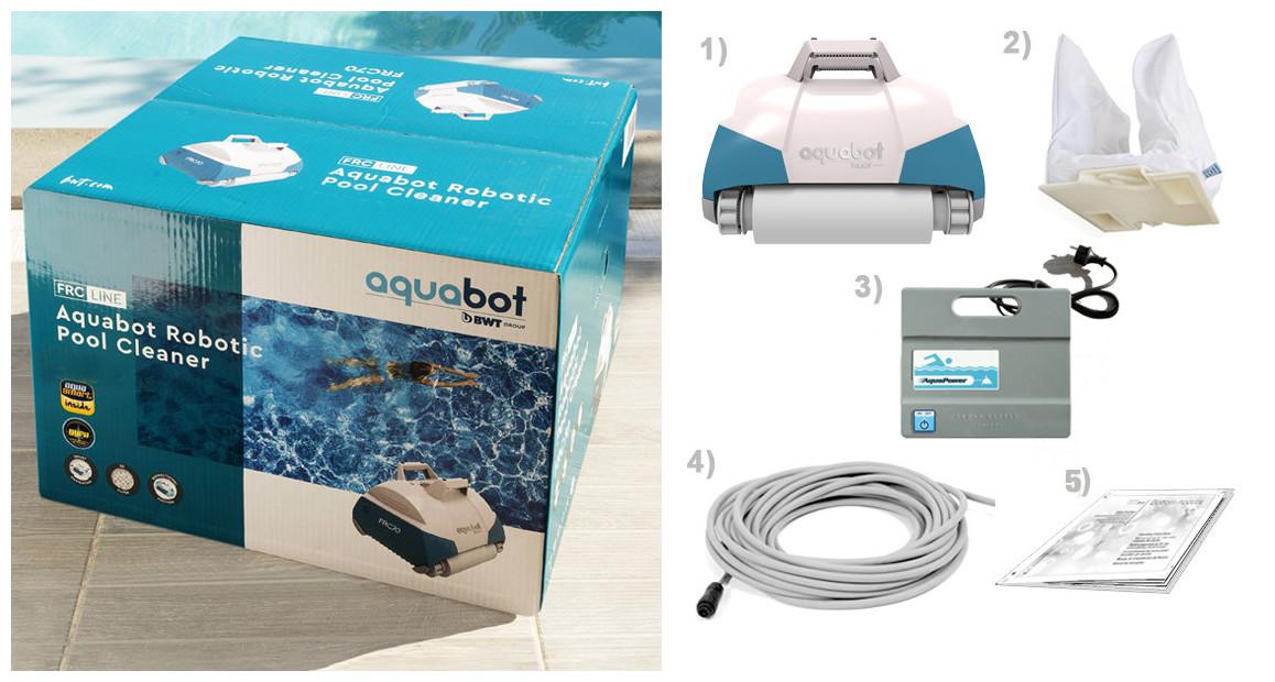 contenu avec le robot piscine aquatron FRC70