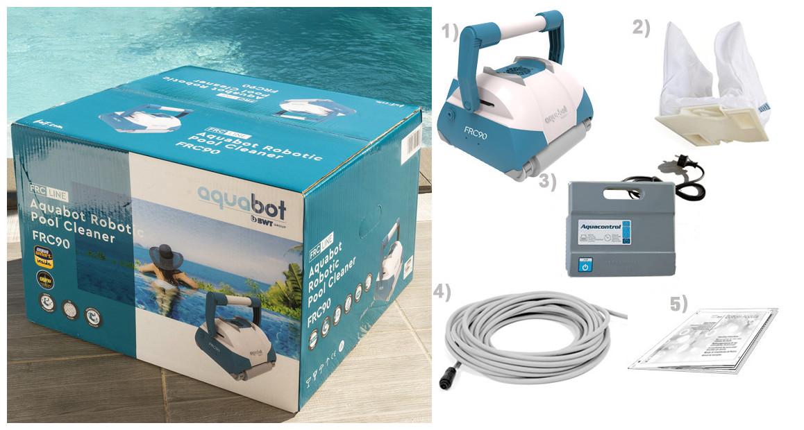 contenu avec le robot piscine aquatron FRC90